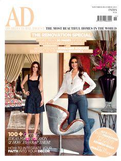 November-December 2013 #Actor Sonali Bendre #Designer Sussanne Roshan #Celebrity #Mumbai http://www.magzter.com/IN/Conde-Nast-India/AD-Architectural-Digest-India/Home/32548