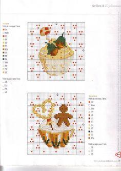 Gráficos Ponto Cruz: Delicias em ponto cruz