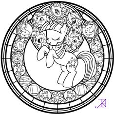 Stained Glass: Twilight Sparkle -line art- by Akili-Amethyst on DeviantArt