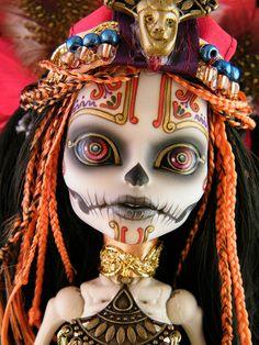Monster High Doll (Head/full front)::Skelita Calaveras Sugar Skull by Engelmech.