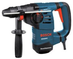 Bosch RH328VC 1-1/8-Inch SDS Rotary Hammer  Unmatched Power to Weight Ratio - 8.0 Amps, 2.6 ft-lbs Impact Energy and 7.7 lbs - Best Performing rotary hammer in its class !  Vibration Control - Vibration reduction in the hammer mechanism and the grip area provides maximum user comfort for extended periods of work  Multi-Function Selector - 3 modes of operation: Rotary Hammer, Hammer-Only mode, and Rotation only mode.  Integral Clutch - Helps minimize torque reaction  Variable Speed 3-Fi...