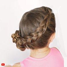 Love this hairstyle. # upside down Braids tutorial Hairstyle tutorial Easy Bun Hairstyles, Little Girl Hairstyles, Updo Hairstyle, Prom Hairstyles, Toddler Hairstyles, Girl Haircuts, Funky Hairstyles, Natural Hairstyles, Dutch Braid Bun