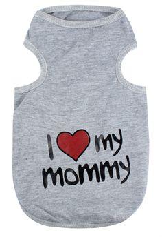 Pet I Love Mommy Dog T-Shirt