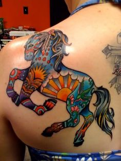 horse tattoo this would be so cool as a carousel. Horse