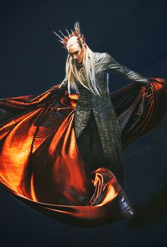 Thranduil from The Hobbit: The Desolation of Smaug. He looks so fierce. Sasha fierce. (Agreeing with that comment. So fab.)