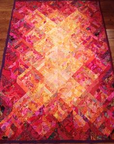 Texas Sunset quilt Sew Colorful Quilts, Sugar Land, TX sewcolorfulquilts@gmail.com