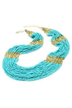 Boho Beaded Necklace by Amrita Singh on @HauteLook