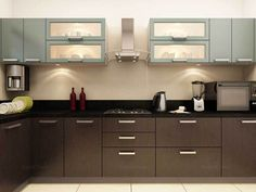l shaped modular kitchen designs catalogue - Google Search