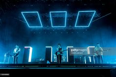 English Indie Rock Band The 1975 performs in concert at Rock in Rome Festival on july 13, 2016 in Rome, Italy.