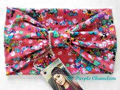Salmon Pink Floral Turban Head Wrap WRAPsody by ThePurpleChameleon, $16.00    #boho #headwrap #turban #fashion #springfashion #GetSpotted