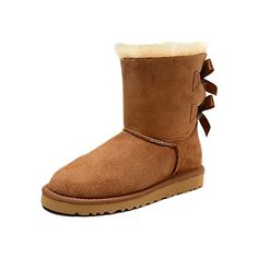 NEED:  Maybest Women Fashion Bow Snow Boots Short Winter Australia Lady Warm Boots Female Shoes  Khaki 9 B M US