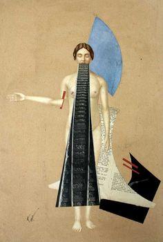 Karl Waldmann (German, ?-1958), Untitled, Collage on cardboard, 65 x 43cm
