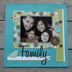 The Memory Nest: Color Challenge! Great colors and simple design really make this scrapbook layout pop!