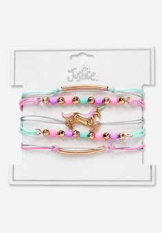 Beaded Mint and Pink Rose Dance Charm Bracelet