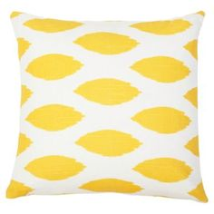 Check out this item at One Kings Lane! Ogee 18x18 Cotton Pillow, Yellow