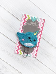 Narwhal Paper Clip Narwhal Bookmark  by NoniesCustomCreation
