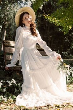 Ahead of the release of 'Little Women,' wedding dress designer Floravere just introduced a Victorian-inspired gown named for Jo March. Designer Wedding Dresses, Wedding Gowns, Wedding Bride, Victorian Wedding Dresses, Princess Wedding, Luxury Wedding, Pretty Dresses, Beautiful Dresses, Victorian Fashion