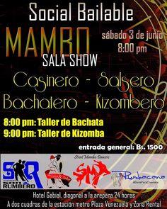 Este sábado 3 de junio compartiremos entre bailadores de #bachata #kizomba #salsa #salsacasino ... Dos Talleres: uno de bachata y uno de kizomba Organizamos cuatro academias...
