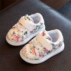 78f7e5f4691b2 UE 21-30 Nouveaux Enfants Chaussures Filles Chaussures Mode Casual  Irrégulière Imprimé floral Mignon Enfants