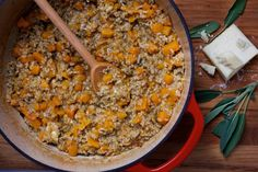 Butternut Squash and Sage Oven Risotto