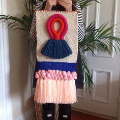 Weaving wall hanging tapestry by Maryanne Moodie