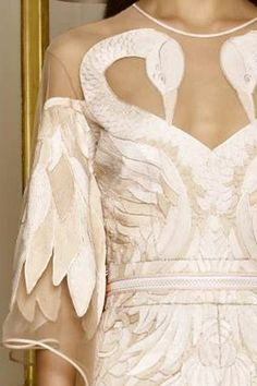 Givenchy - love the symbolic images of the two swans... mating for life! - STYLE DECORUM http://www.styledecorum.com/