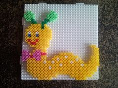 Chenille Raupe hama beads by miaou1702
