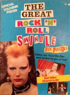 """SEX PISTOLS - Great Rock 'N' Roll Swindle Poster Magazine Size 85 cm x 56.5 cm (広げると)Condition:EX- 12,800 Yen レア!1980年公開ジュリアンテンプル監督、Sex Pistolsの映画 """"Great Rock N Roll Swindle""""のポスターマガジン!!!!シールを剥がした跡等もありますが比較的状態は良好です。"""