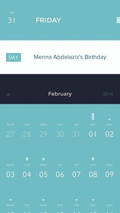 Calendar - Super soothing flat design makes looking at a calendar more relaxing.
