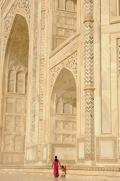 Close up of the Taj Mahal, Agra, Uttar Pradesh, India by karolajnat