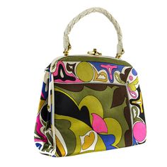 Emilio Pucci Vintage Top Handle Bag | From a collection of rare vintage handbags and purses at http://www.1stdibs.com/fashion/accessories/handbags-purses/