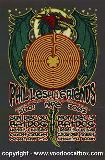 2001 Phil Lesh & Ratdog NYE Concert Poster by Gary Houston