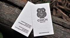 Cinch Creative Business Cards by themovement (via Creattica) Create Business Cards, Vertical Business Cards, Artist Business Cards, Business Card Mock Up, Unique Business Cards, Business Card Design, Creative Business, Business Ideas, Web Design
