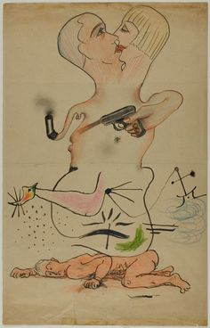 Exquisite Corpse Man Ray (Emmanuel Radnitzky) (American, 1890-1976)  Joan Miró (Spanish, 1893-1983)  Yves Tanguy (American, born France, 1900-1955)   Max Morise (French, 1900-1973)