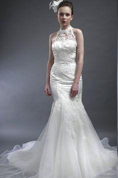 Modisches Brautkleid aus Organza im Meerjungfrauenstil