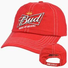 "Budweiser Bud King Of Beers Racing Nascar RCR Garment Wash Hat Cap Adjustable by CFS. $13.99. 100% Cotton. Official Licensed Product. Velcro. Brand New Item with Tags. Adjustable. Root for your favorite beer with this durable NASCAR hat. Beer logo embroidered on front panel along with ""King of Beers"" embroidered right underneath. RCR logo embroidered on back panel and Nascar logo embroidered on closure. Adjustable, velcro closure. Officially Licensed NASCAR Product."