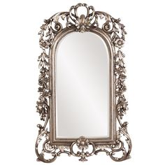 The Norwood mirror features an arched baroque styled mirror. The frame has been finished in a lovely antique silver leaf. It is a great litte piece to add to any room! <br><br><ul> <li>Materials: Resi...