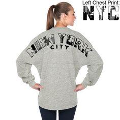 New York City Game Day Spirit Jersey in Grey