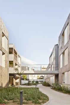 Gallery of Nanterre Co-Housing / MaO architectes + Tectône - 11 residentieel binnentuin tuin collectief passerelle omgevingsaanleg