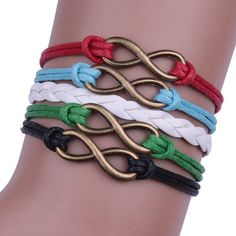 Lucky 8 Leather Woven Bracelet