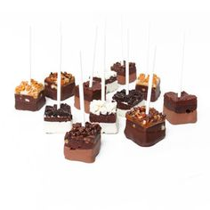 Chocolate Covered Brownie Pops