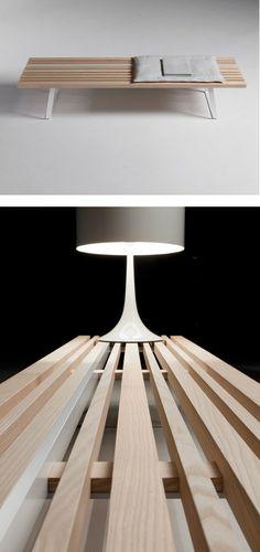 Ash bench LINE BENCH by La Cividina   #design Luca Botto @lacividina