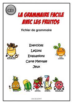 Grammaire CE1 - Méthode Fruitos Comprehension, Grammar, Language, Comics, Learning, School, Montessori, Google, Image