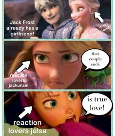 Yes. When was jackxrepunzel ever a thing?! It's always been jelsa. Duh