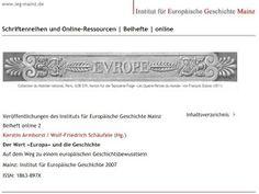 """#Vorarlberger Bloghaus: [ #forumROMANum ] Der Wert """"Europa"""" Feldkirch, Europe, Bregenz, Mainz, Politics, History"""