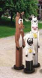 19-W2536 - Post Farm Animals Woodworking Plan