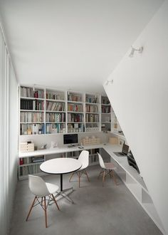 white home office (via Life in spiral, Tokyo, 2012)