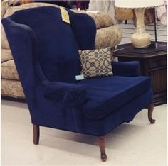 This brand new suede covered chair is ready to go home with you! Pick it up today at 2100 N Main Street, High Point!