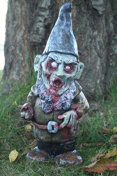 Zombie Garden Gnome. $60.00, via Etsy.