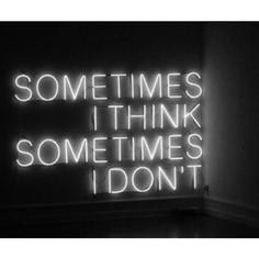 Sometimes  \\ neon